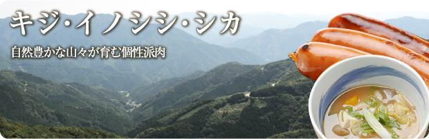 キジ・イノシシ・シカ。自然豊かな山々が育む個性派肉
