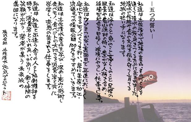土佐清水元気プロジェクトの理念